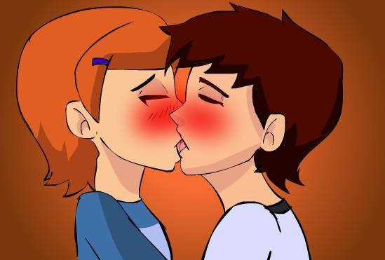 gwen and ben  kiss games
