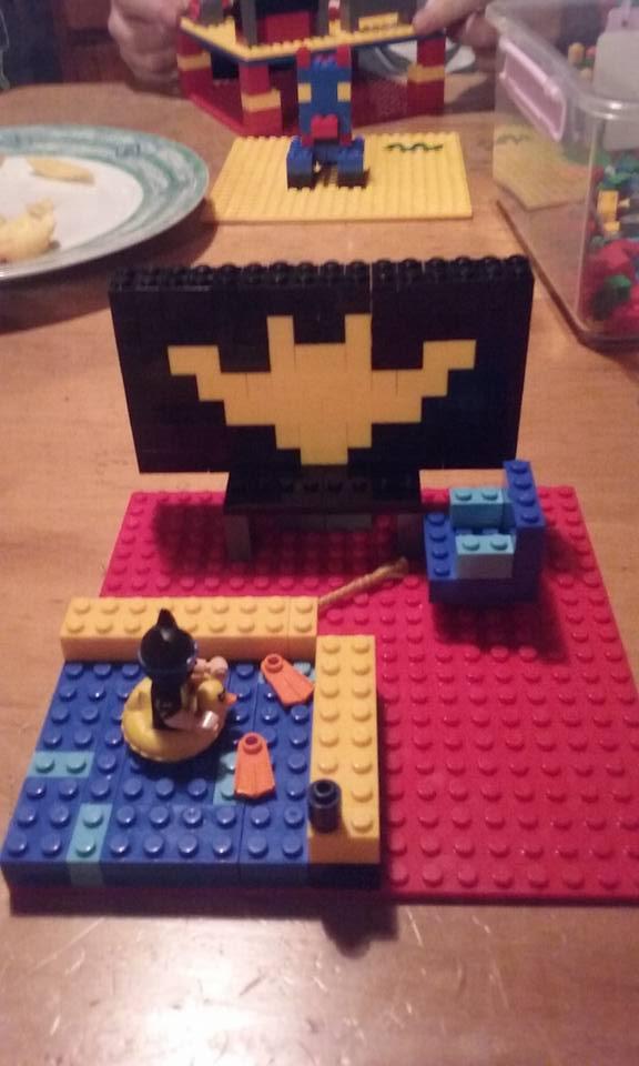 Lego Batman swimming by DJChocolate-Lover