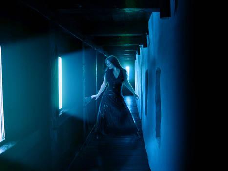 Hallway blue