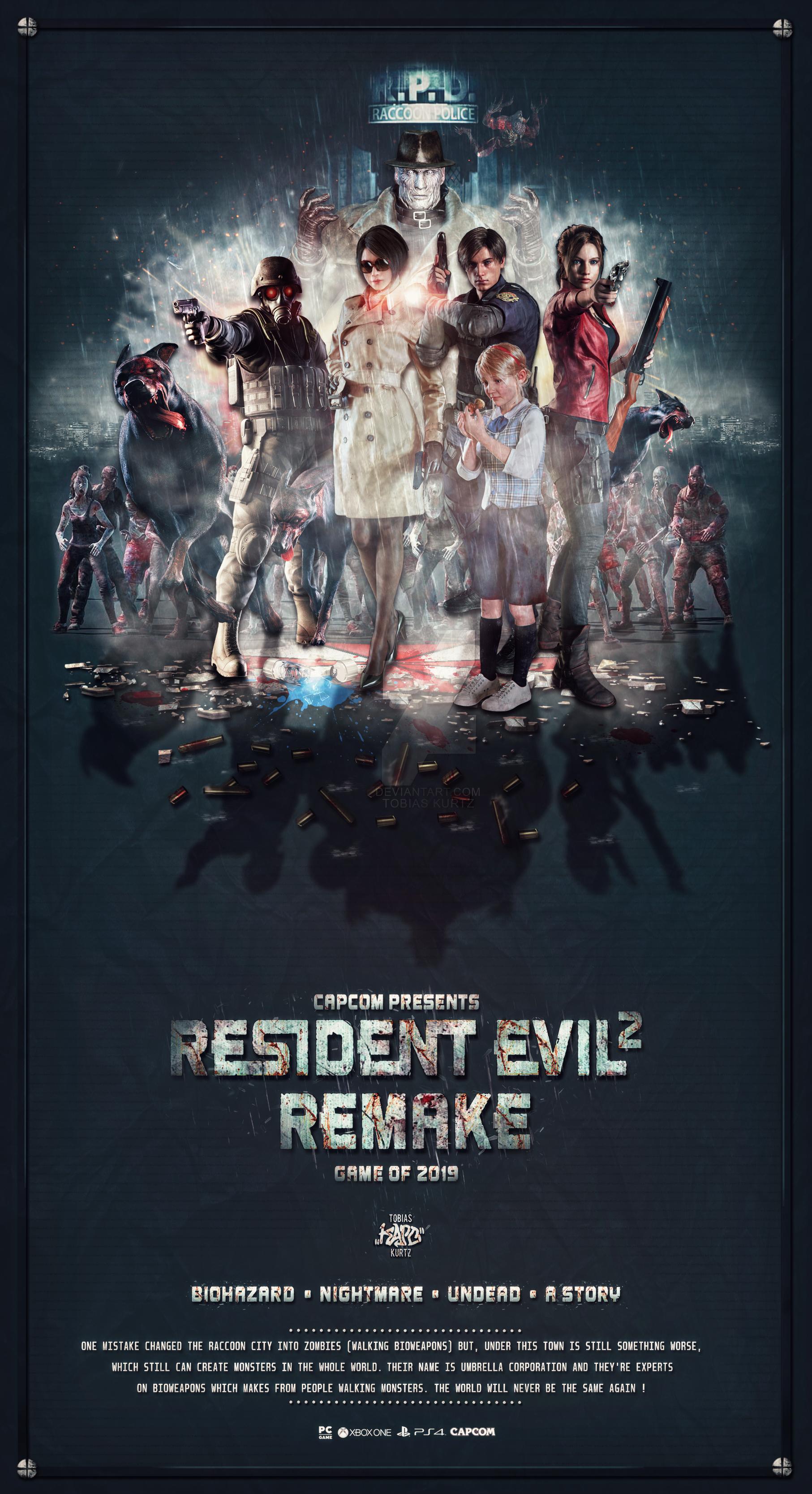 Resident Evil 2 Remake Poster By Kapo Neu On Deviantart