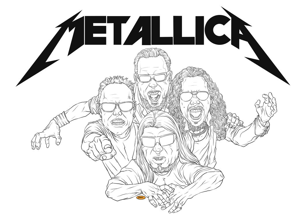 coloring pages of rock bands - photo#12