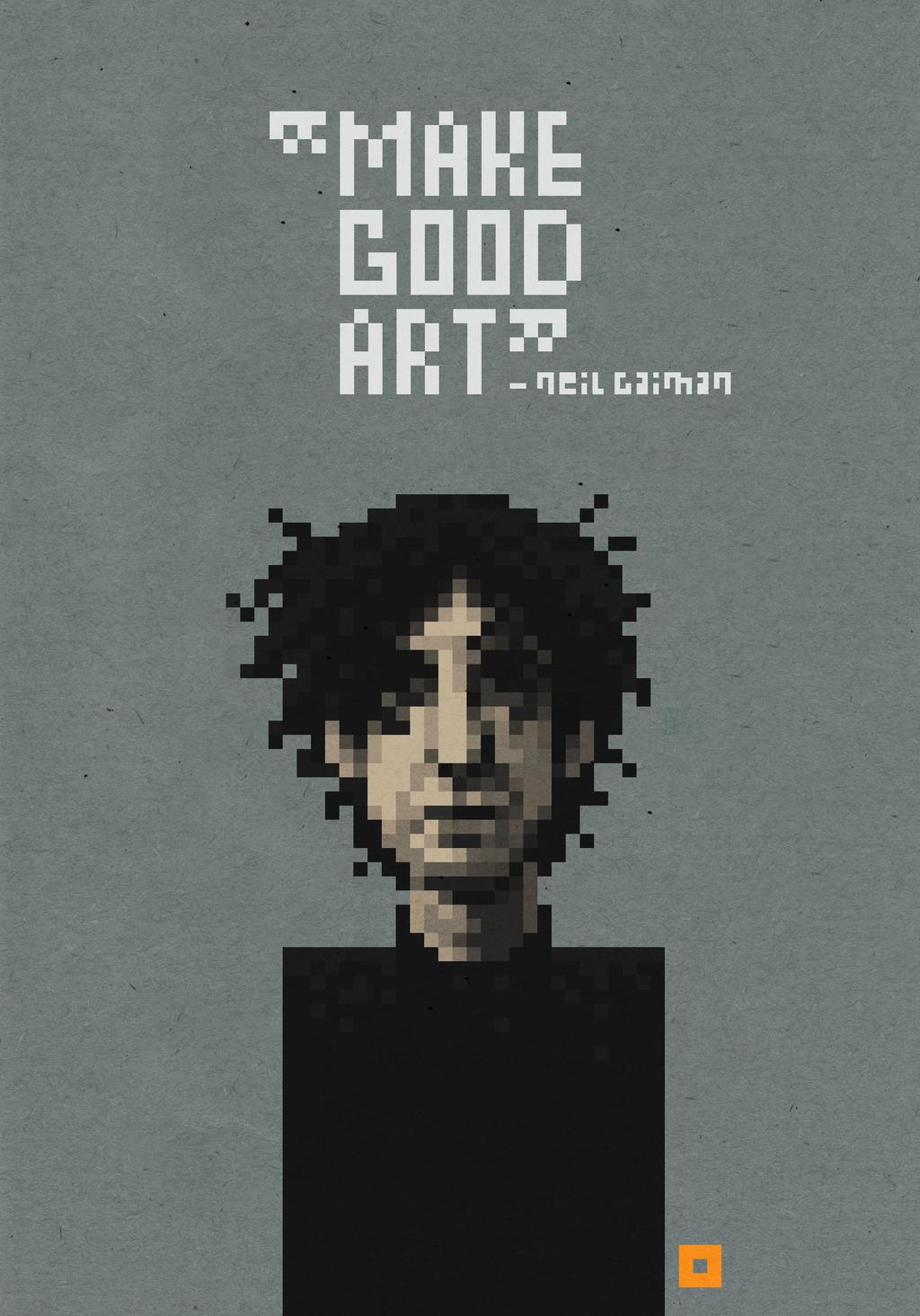 Neil Gaiman by solitarium