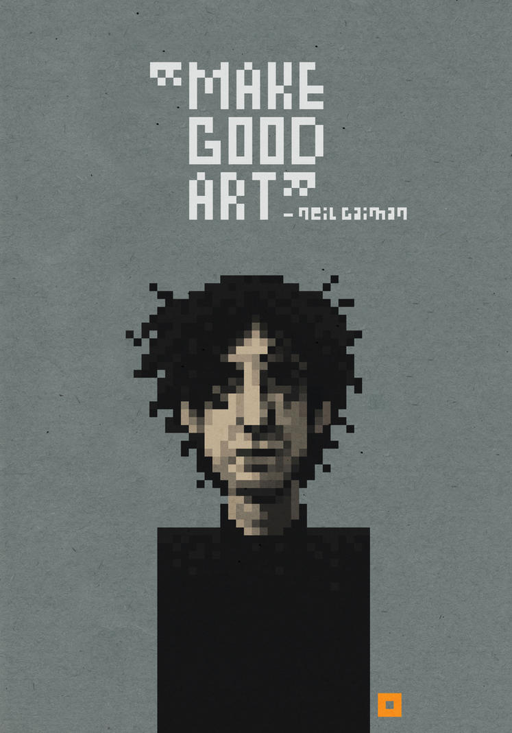 Neil Gaiman by solitarium