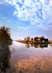 Morning on the Kinderdijk, Holland