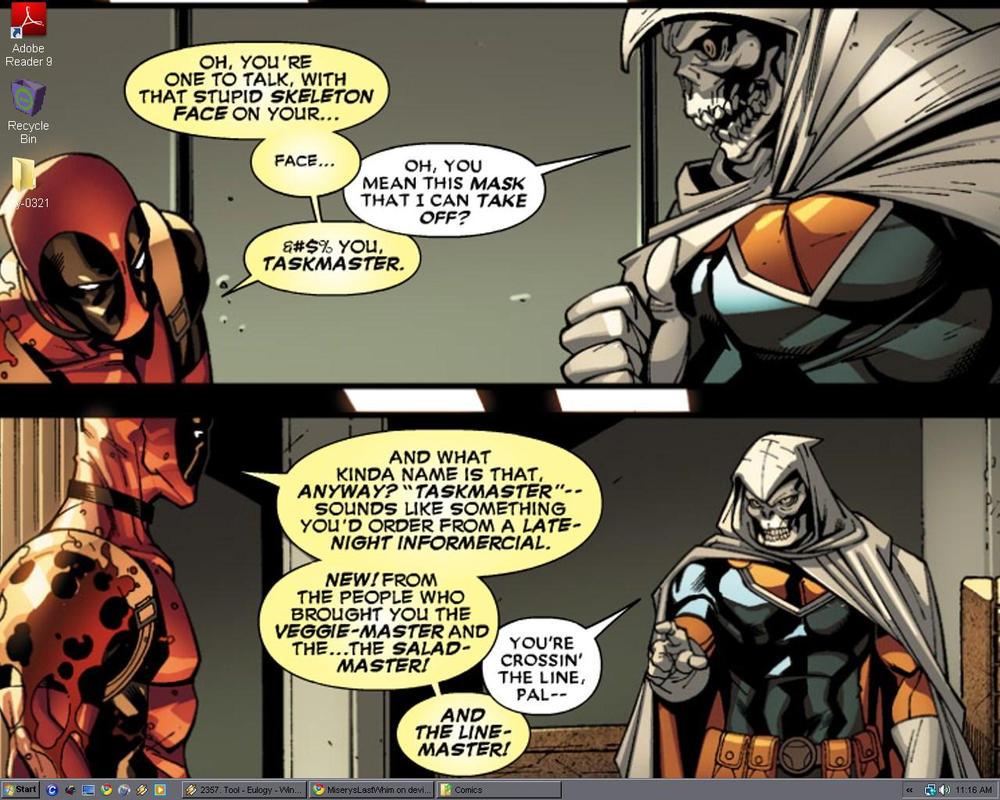 Deadpool Taskmaster Desktop by MiserysLastWhim