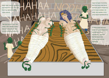 The captured Pharaohess and the mother Queen by whywhatwhy
