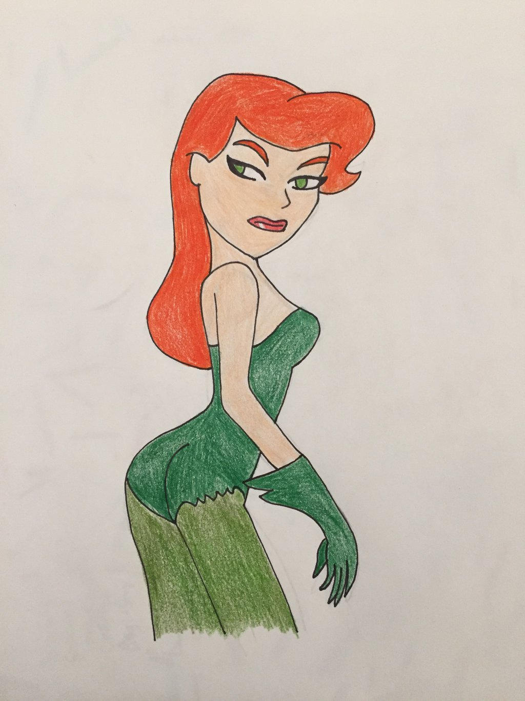Poison Ivy BTAS drawing 2 by IronBatMaiden91 on DeviantArt