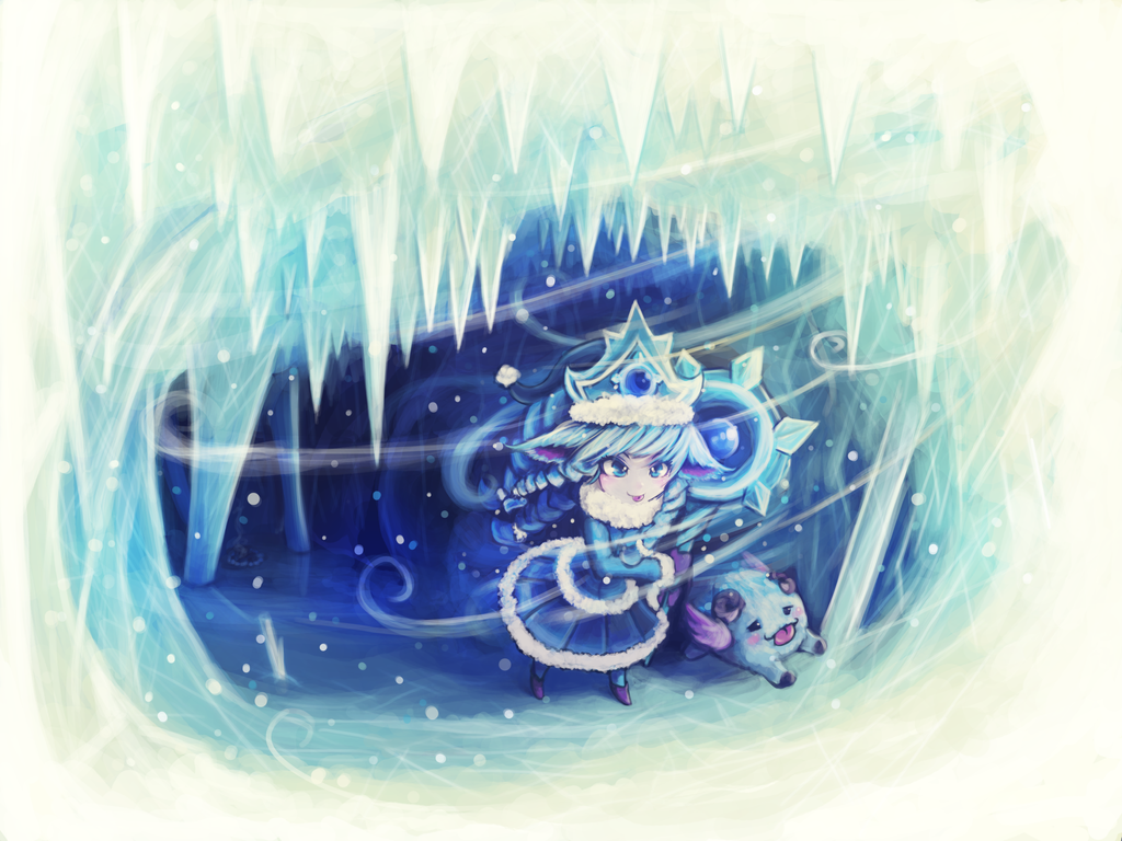 - league of legends - winter lulu - by luminaura