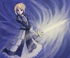 - Fate-Saber - by luminaura