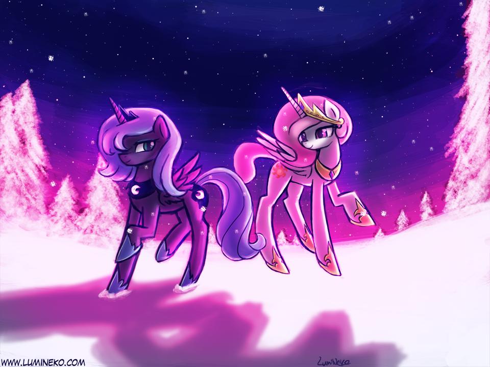 A sisterly winter by luminaura