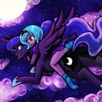 Luna's night flight with luna