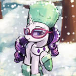 Rarity's snow outfit