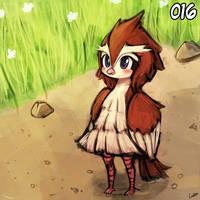 (pokemon national dex project) - 016 pidgey by luminaura