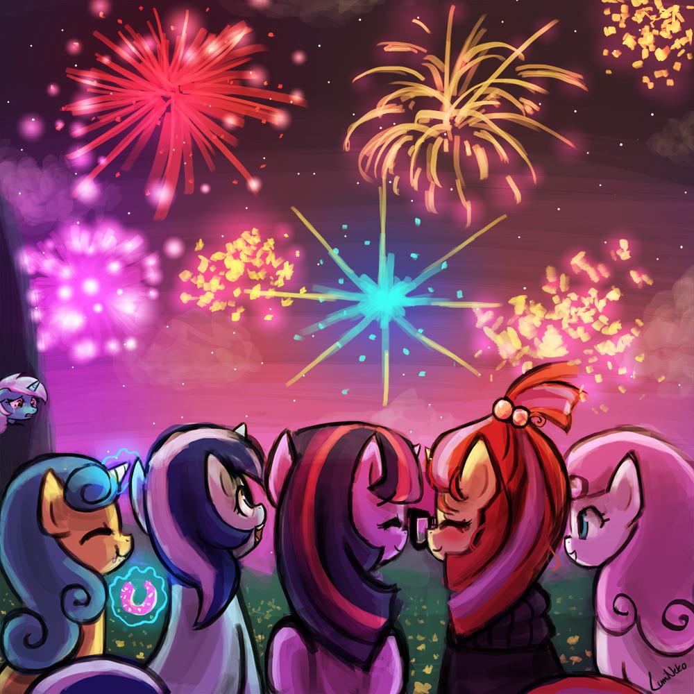 Amending Fences - Fireworks by luminaura