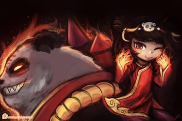 League of Legends - Panda Annie by luminaura