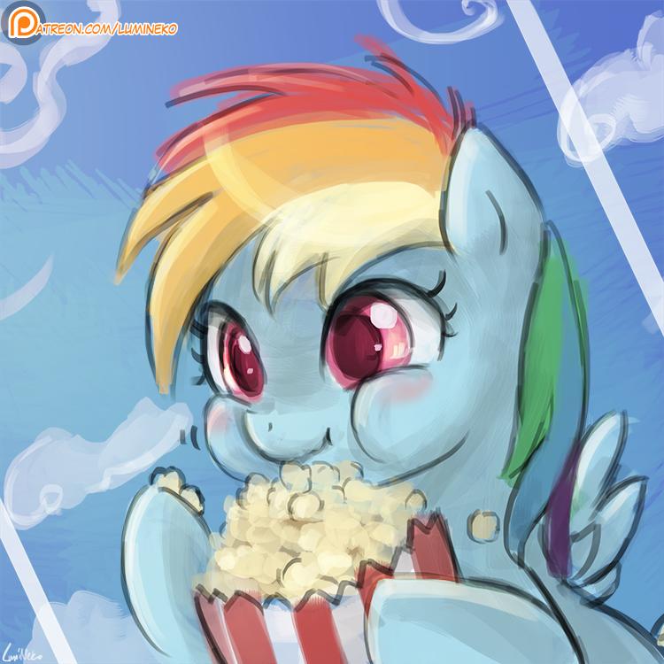 30minutechallenge - Popcorn Fillydash by luminaura