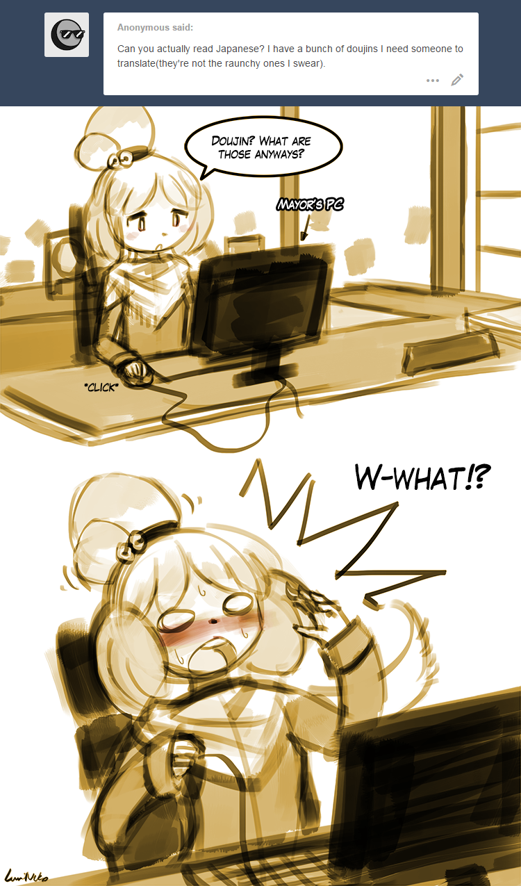 Animal Crossing Isabelle X Digby Porn ask shizue - doujinluminaura on deviantart
