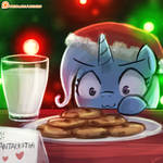 Trixie wants the cookies and milk