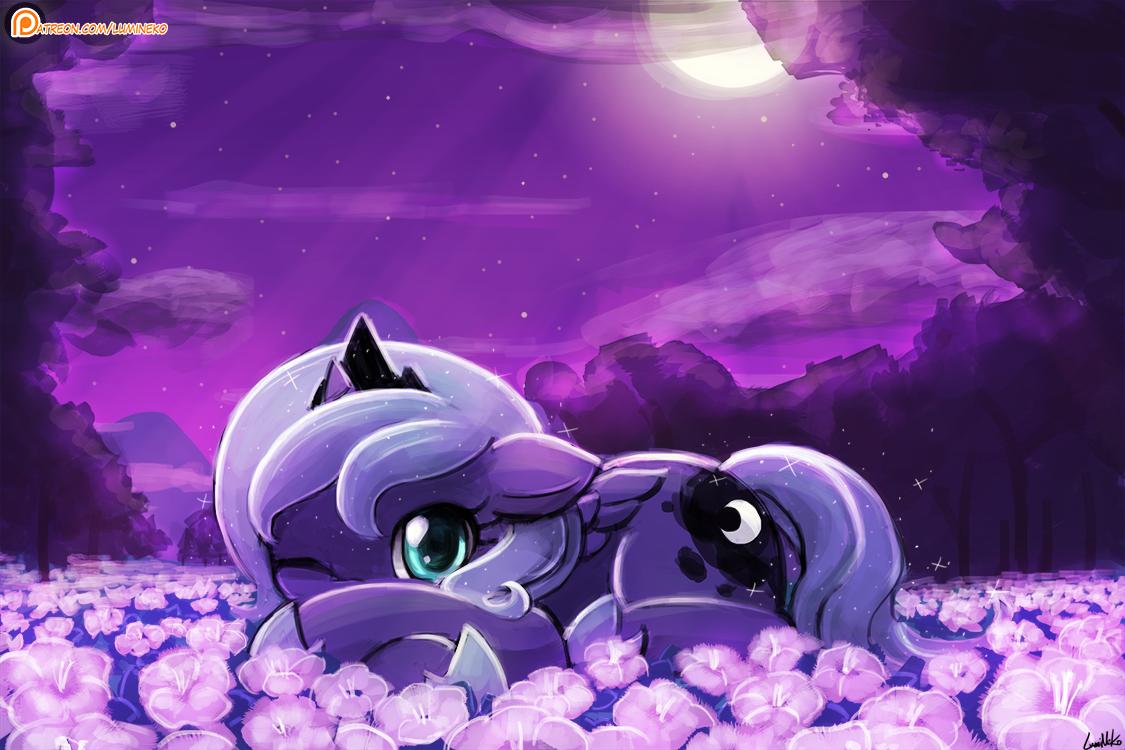 Luna's Favorite Flowers by luminaura