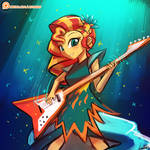 (Speed Paint) Sunset Shimmer Rocks!