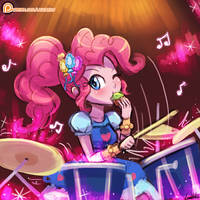 (Speed Paint) Pinkie Pie Rocks! by luminaura