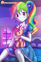 Girly Rainbow Dash by luminaura