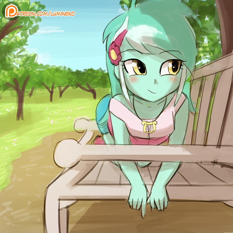 (Speed Paint) Sitting like a pony by luminaura