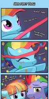 4koma Friday - Her First Dash by luminaura