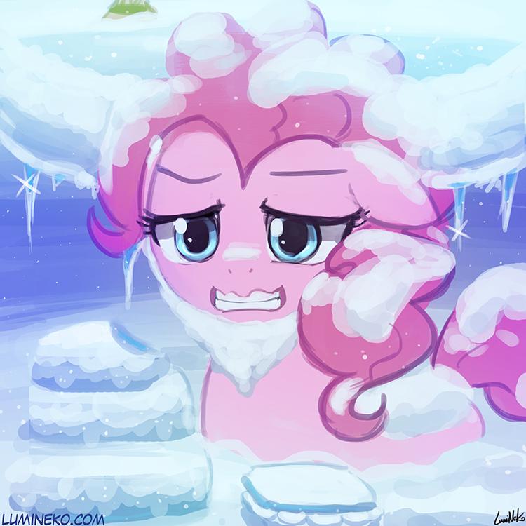 s7e11 - Snow Yak Pinkie Pie by luminaura