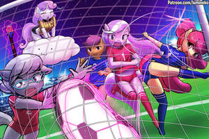 <b>Apple Bloomers Soccer Battle!</b><br><i>luminaura</i>