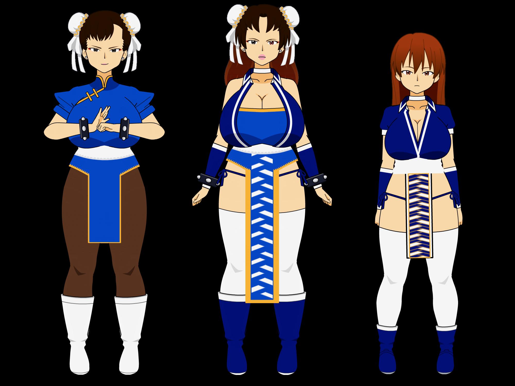 FUSION: Chun-Li + Kasumi (REQUEST) By Ryu-lad On DeviantArt