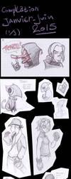 Sketch dump january-june 2015 part 1 by firemelon100