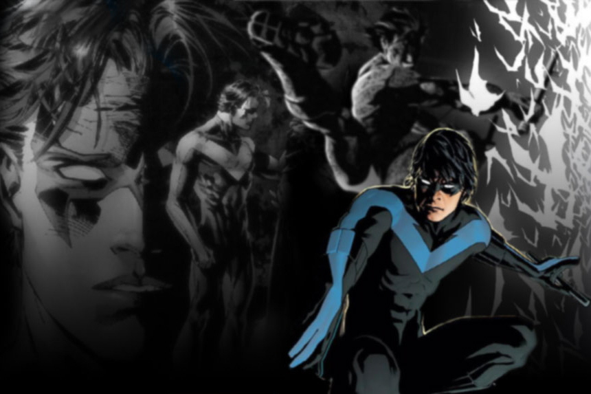 nightwing wallpaper by coramay on deviantart