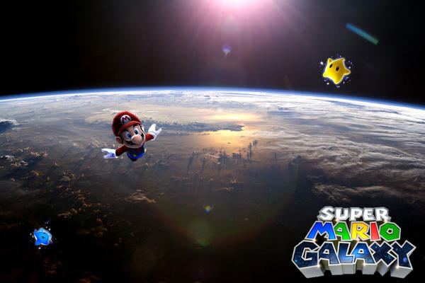Super Mario Galaxy Wallpapers: Mario Galaxy Wallpaper By Icekirbyixi On DeviantArt