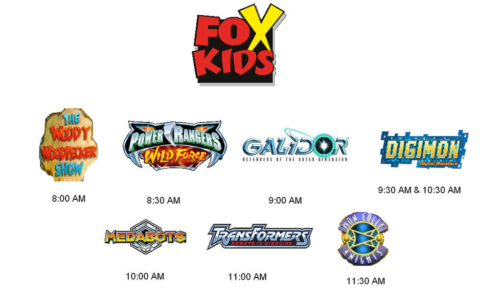 Fox Kids Final Schedule September 7 2002 413937623 moreover Watch also File 180px CN logo svg as well Old Disney Cartoon Shows likewise Watch. on old cartoon network shows