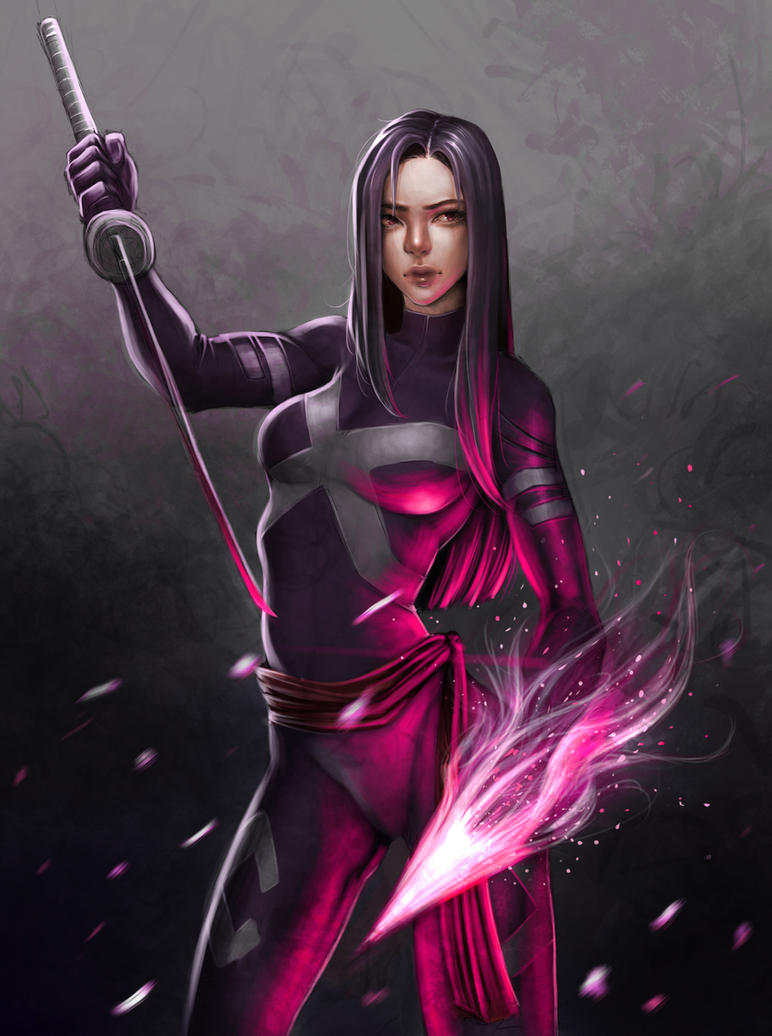 Psylocke X-Men Fanart by milk00001