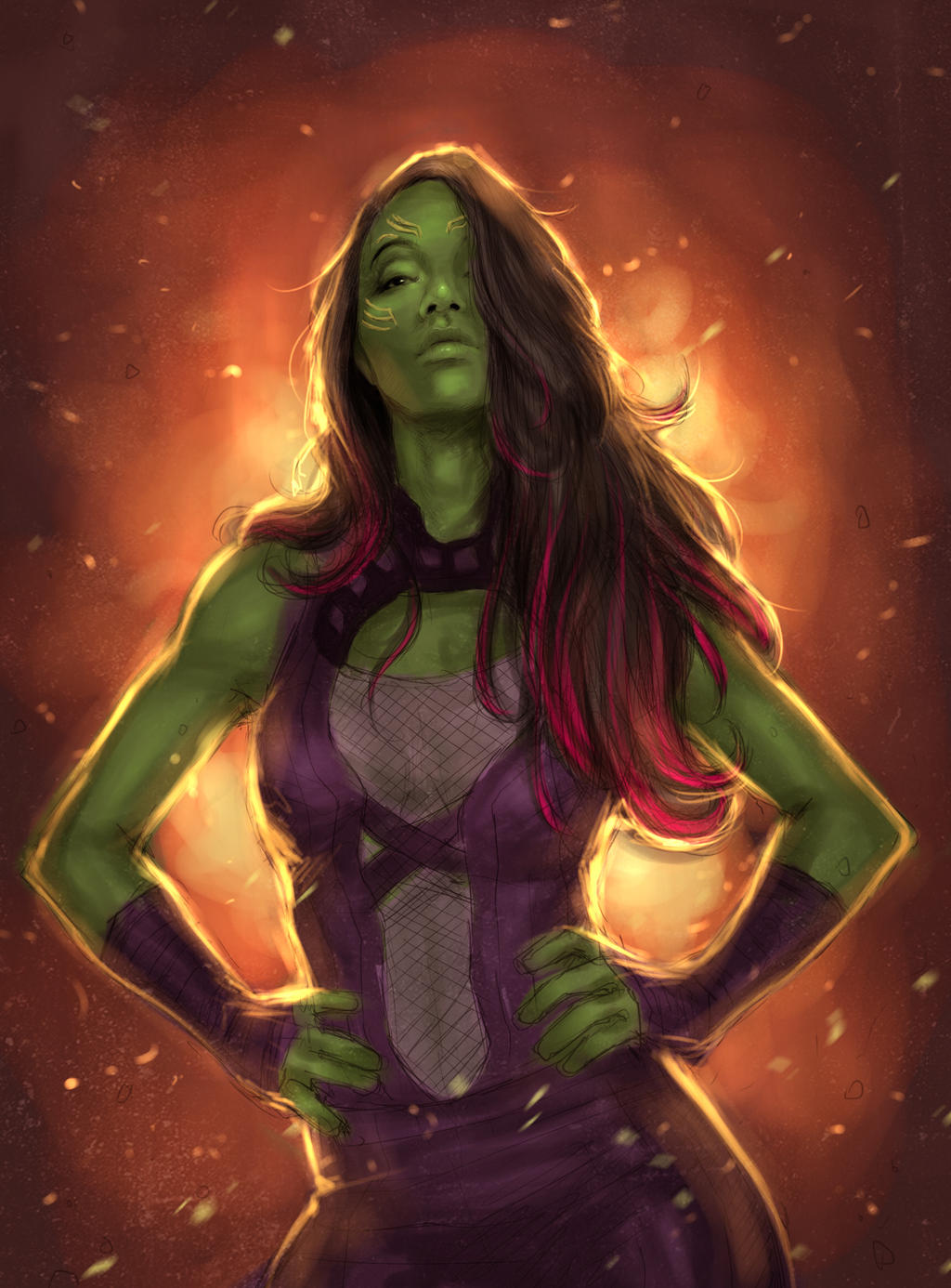 Gamora guardian of the galaxy by milk00001