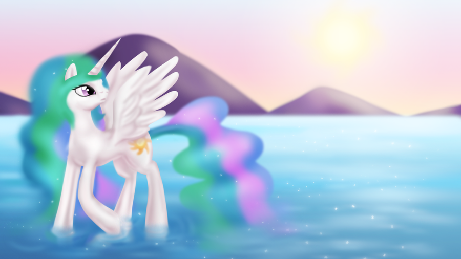 Daybreak over the Lake by Zedrin