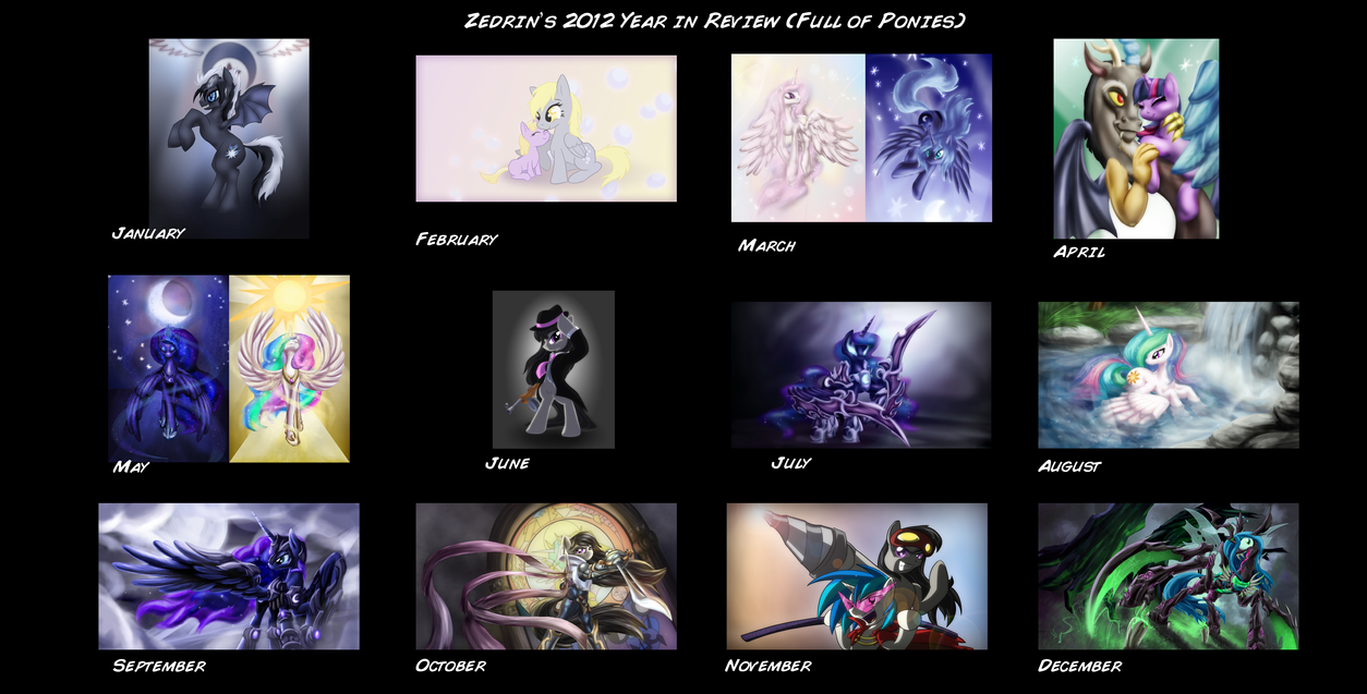 Zedrin's Year in Review 2012 by Zedrin