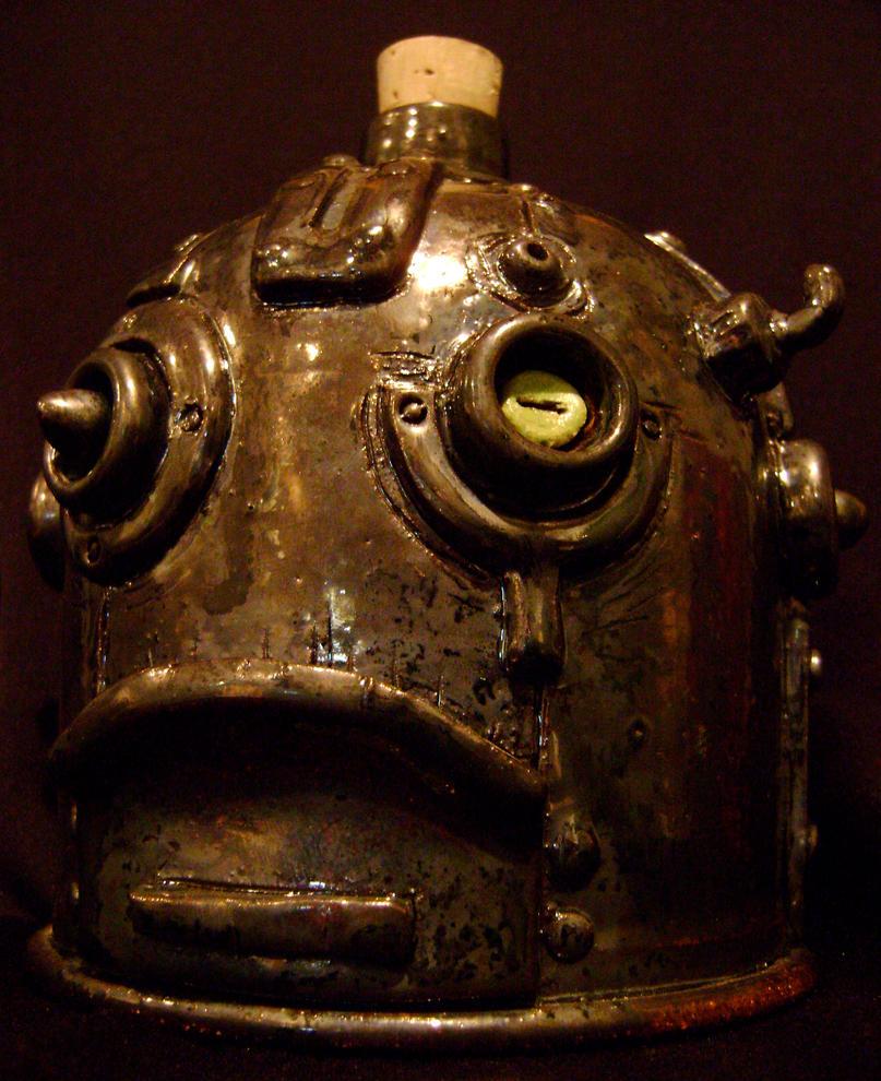 Steampunk Robot Jug 1 by thebigduluth