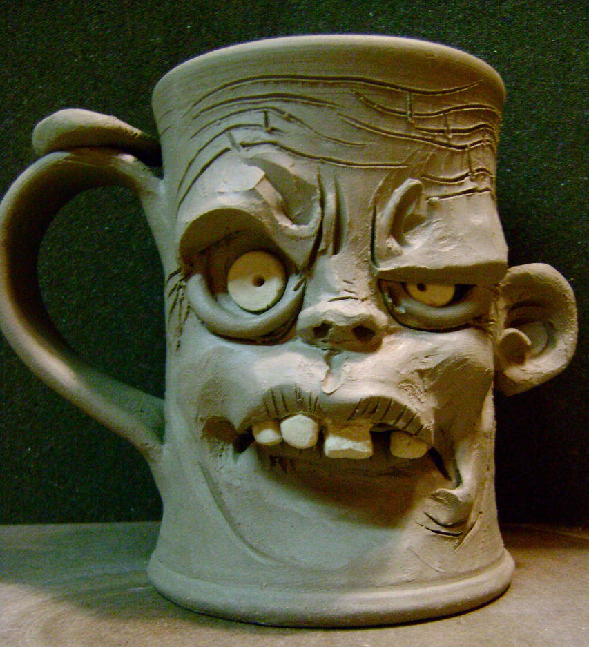 Zombie mug-WIP by thebigduluth