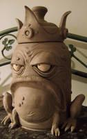 King Frog Cookie Jar- WIP by thebigduluth