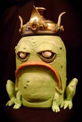 King Frog Cookie Jar-complete by thebigduluth