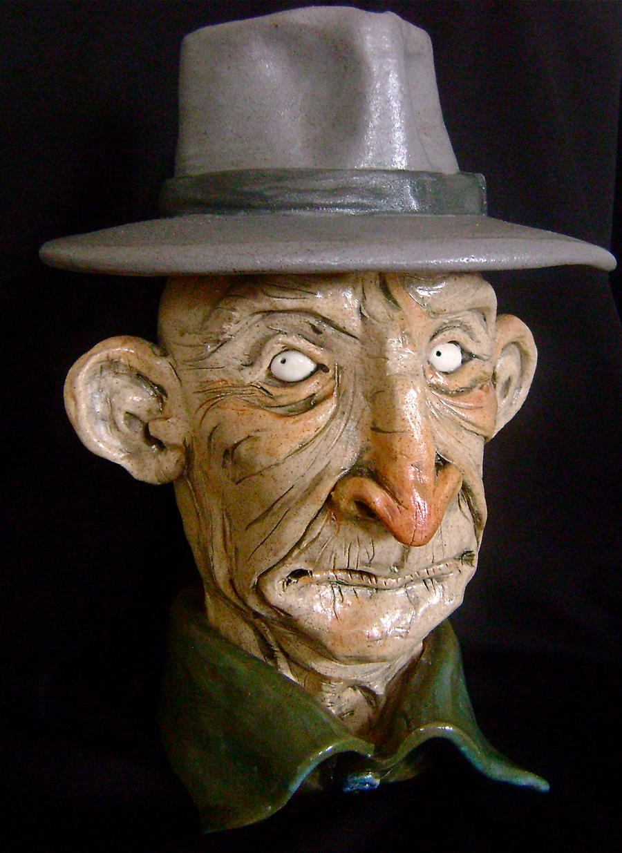 Old man in Hat Jug- complete by thebigduluth