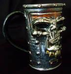 Metal Head Beer Mug- complete