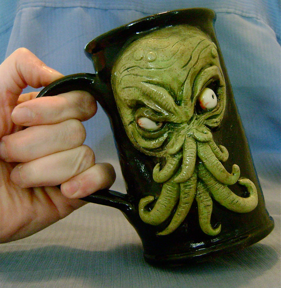 Cthulhu Beer Mug- for sale by thebigduluth