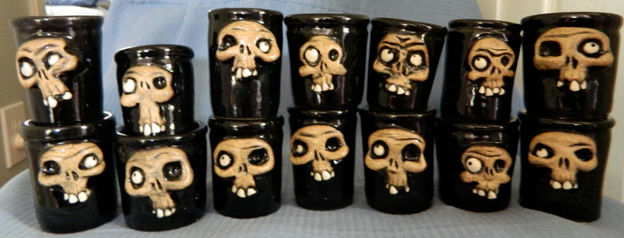 Skull Shot Glasses by thebigduluth