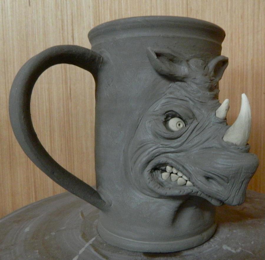 Angry Rhino Mug- WIP by thebigduluth