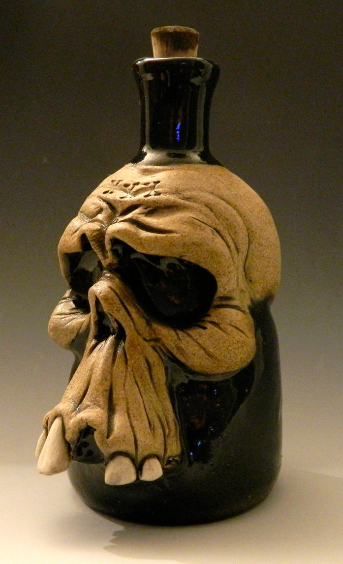 Worried Skull Poison Bottle- For Sale by thebigduluth