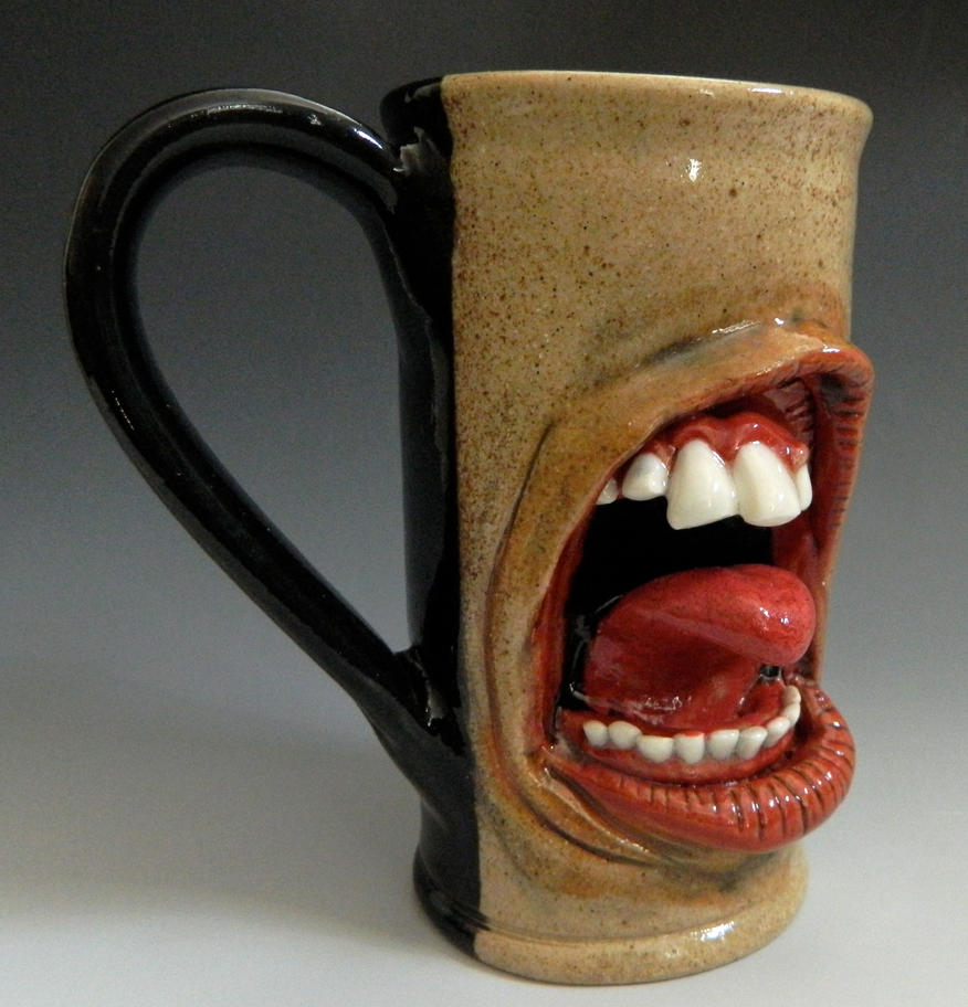 Teeth and Tongue Mug- FOR SALE by thebigduluth